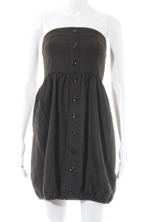 Vero Moda Ballonkleid dunkelbraun-schwarz Karomuster Vintage-Look