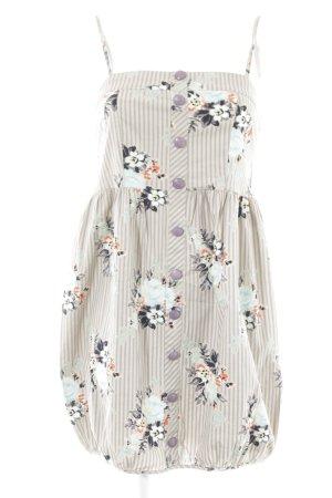 Vero Moda Bandeaukleid beige-blasslila Blumenmuster Casual-Look