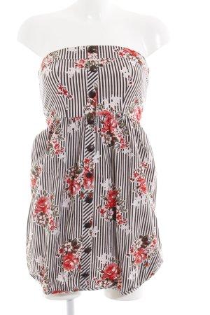 Vero Moda Vestido bandeau estampado floral look casual
