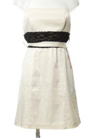 Vero Moda Vestido bandeau crema-negro elegante