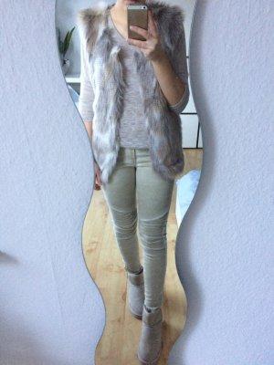 Vero Moda Basic Shirt 3/4-Arm beige meliert