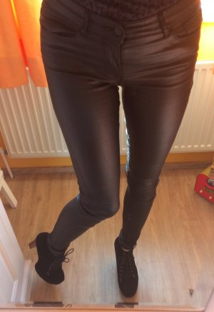 Vero Moda Leather Trousers black mixture fibre