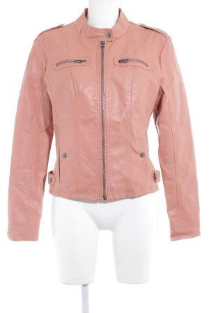 Vero Moda Bikerjacke apricot Steppmuster Biker-Look
