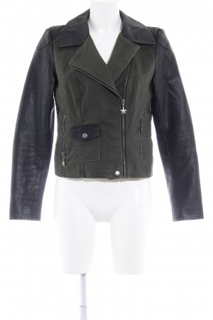 Vero Moda Biker Jacket dark green-black biker look