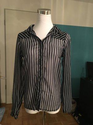 Vero Moda - blau-weiß gestreifte transparente Bluse, XS