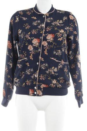 Vero Moda Blouson dark blue floral pattern casual look