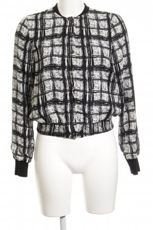 Vero Moda Blusón negro-blanco estampado a cuadros estilo College
