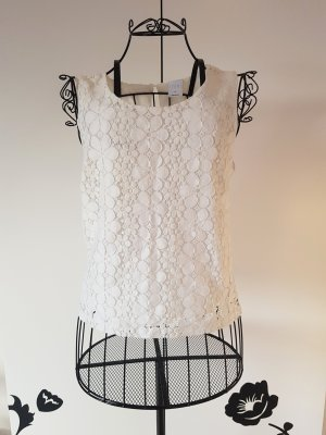 Vero Moda Top de ganchillo blanco