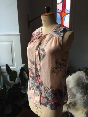 Vero Moda - Bluse, Blumenprint, schöne Farbkombi, Gr. M