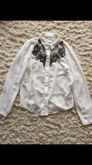 Vero Moda Bluse mit Perlenstickereien, Gr.: 36/S