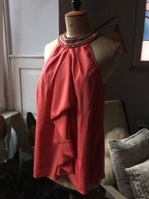 Vero Moda Bluse, tolle Farbe, Perlen, Gr. L, NEU