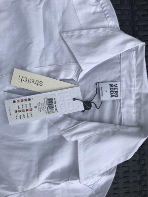 Vero Moda Blusa tipo body blanco tejido mezclado
