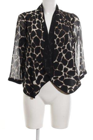 Vero Moda Chaqueta tipo blusa negro-marrón estampado de leopardo estilo fiesta
