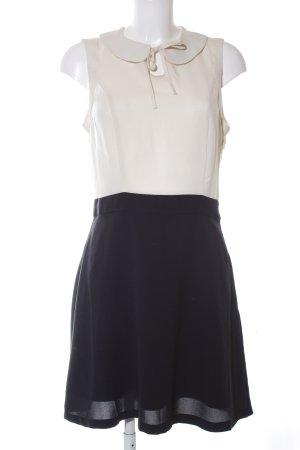 Vero Moda Blusenkleid wollweiß-schwarz Business-Look