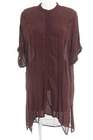 Vero Moda Blusenkleid bordeauxrot Casual-Look