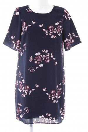Vero Moda Blusenkleid dunkelblau Blumenmuster Romantik-Look