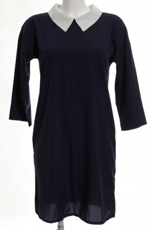 Vero Moda Blusenkleid dunkelblau-weiß Elegant