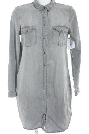 Vero Moda Blusenkleid grau Casual-Look