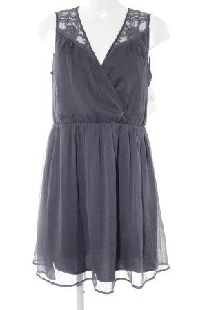 Vero Moda Blusenkleid graublau Spitzenbesatz