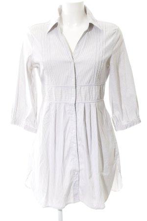 Vero Moda Blusenkleid hellgrau-weiß Streifenmuster klassischer Stil
