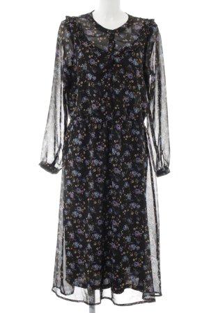 Vero Moda Blusenkleid schwarz Blumenmuster Elegant