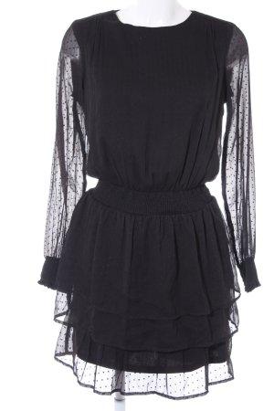 Vero Moda Blusenkleid schwarz Punktemuster Elegant