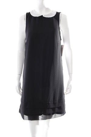 Vero Moda Blusenkleid schwarz-weiß klassischer Stil