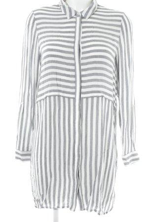 Vero Moda Blusenkleid weiß-grau meliert Paris-Look