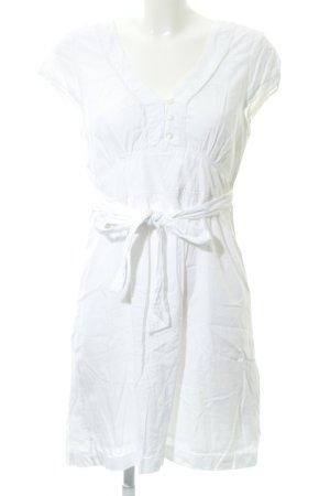 Vero Moda Blusenkleid weiß-wollweiß Romantik-Look