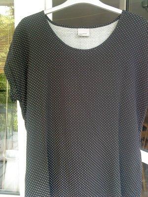 Vero moda Blusenshirt schwarz mit weißen Pünktchen L