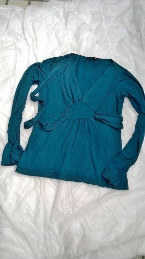 Vero Moda: Blusenshirt Tunika Top in petrol, Größe L