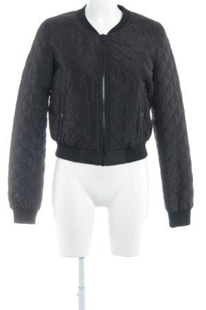 Vero Moda Bomberjack zwart quilten patroon casual uitstraling