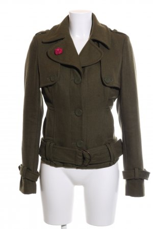 Vero Moda Pea Jacket khaki-red casual look