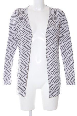 Vero Moda Cardigan weiß-schwarz Allover-Druck Casual-Look