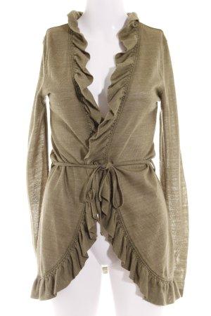 Vero Moda Cardigan khaki-grüngrau Casual-Look