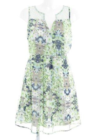 Vero Moda Vestido de chifón estampado con diseño abstracto look casual