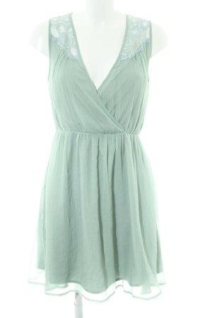 Vero Moda Vestido de chifón verde claro elegante
