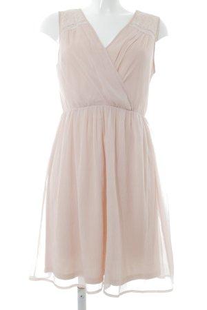 Vero Moda Chiffon jurk rosé romantische stijl