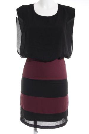 Vero Moda Chiffonkleid schwarz-dunkelrot Elegant