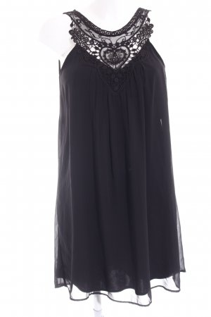 Vero Moda Vestido de chifón negro estilo romántico