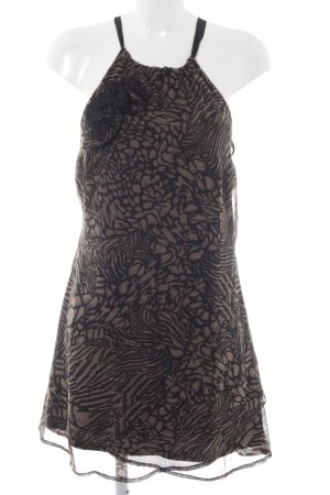 Vero Moda Cocktailkleid graubraun-schwarz abstraktes Muster Casual-Look