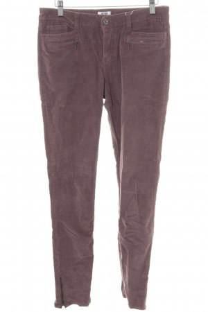 Vero Moda Pantalone di velluto a coste malva motivo a righe stile casual