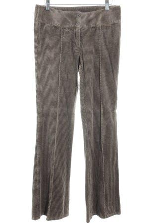 Vero Moda Pantalone di velluto a coste marrone-grigio Stile Brit
