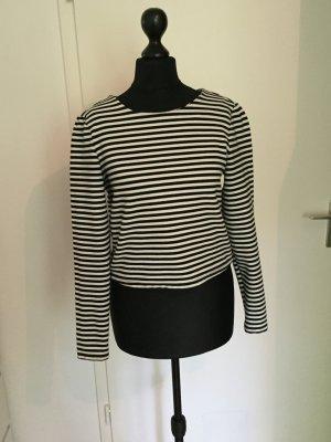 Vero Moda Cropped Shirt Longsleeve Pulli S Streifen Blogger Stree