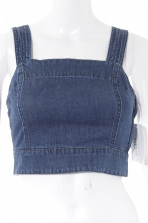 Vero Moda Cropped Top blau Casual-Look