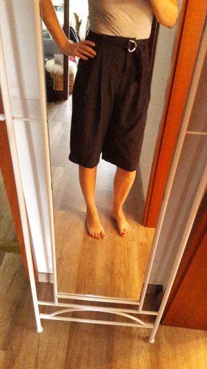 Vero Moda Culottes Hose Midi Highwaist Gürtel schwarz