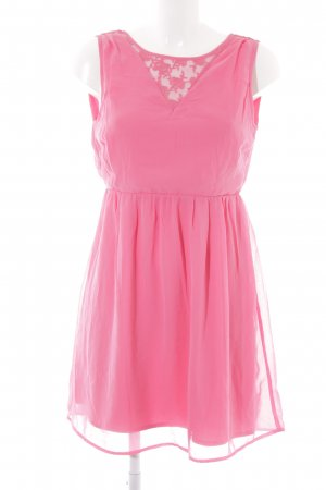 Vero Moda Cut-Out-Kleid pink Casual-Look
