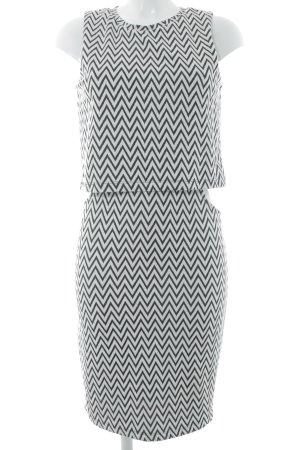 Vero Moda Cut-Out-Kleid weiß-schwarz Zackenmuster Casual-Look