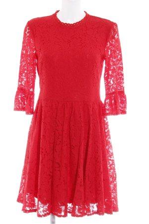 Vero Moda Cut-Out-Kleid ziegelrot Casual-Look