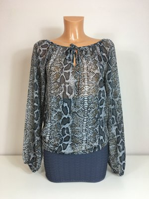 Vero Moda Damen Bluse Oberteil Hemd Blouson Gr. M/38-40 Grau